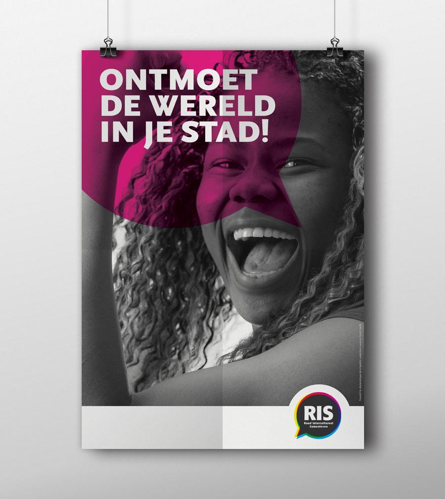 raad intercultureel samenleven buro345 communicatie creatie poster ris affiche